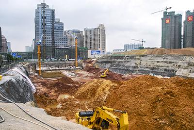 昌泰东盟园深基坑支护项目