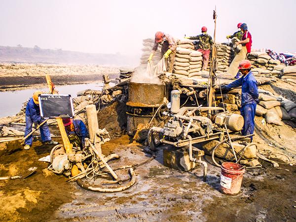 合山煤田灌浆项目工地