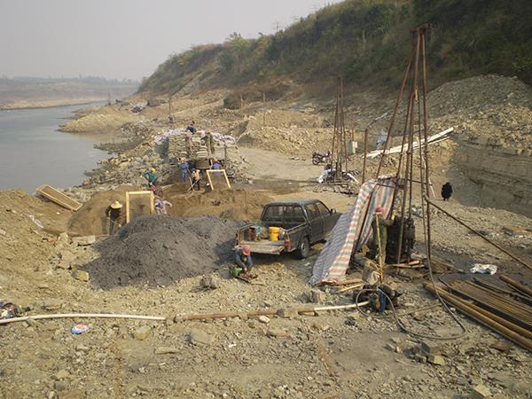 合山煤田灌浆项目工地1