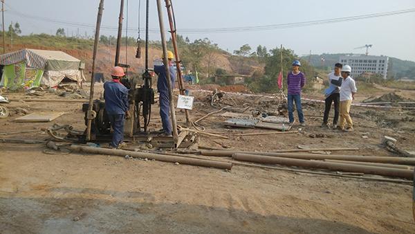 西湾大岭煤矿灌浆项目工地